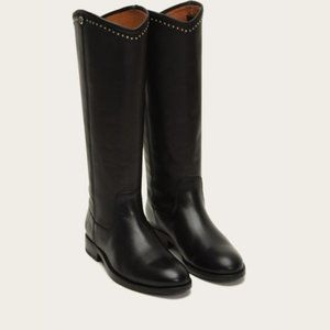 NEW FRYE MELISSA BUTTON STUD BOOTS SIZE 8